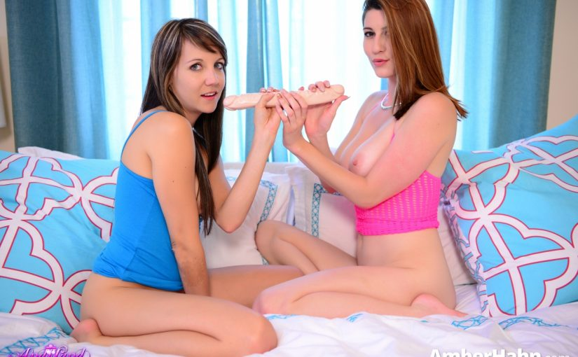 Amber Hahn Double Sided Dildo with Andi
