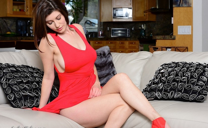Amber Hahn is the Lady in Red